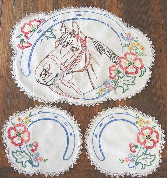 Vintage horse #embroidery