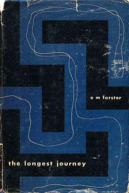 "E.M. Forster's ""The Longest Journey"" book cover design by Alvin Lustig. New Directions, 1943. First Edition"