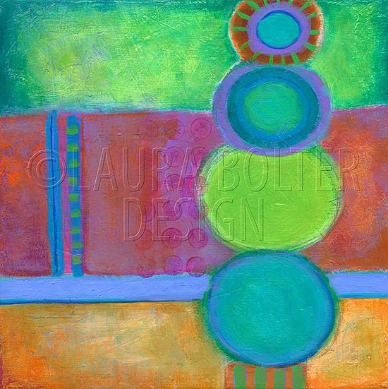 Abstract Painting / Original Painting / Sweet by LauraBolterDesign, $150.00