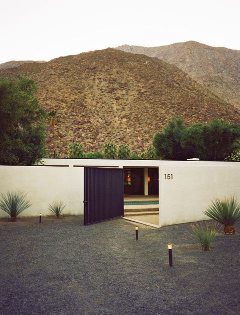 1980s Modern hillside weekend box home with gated entrance