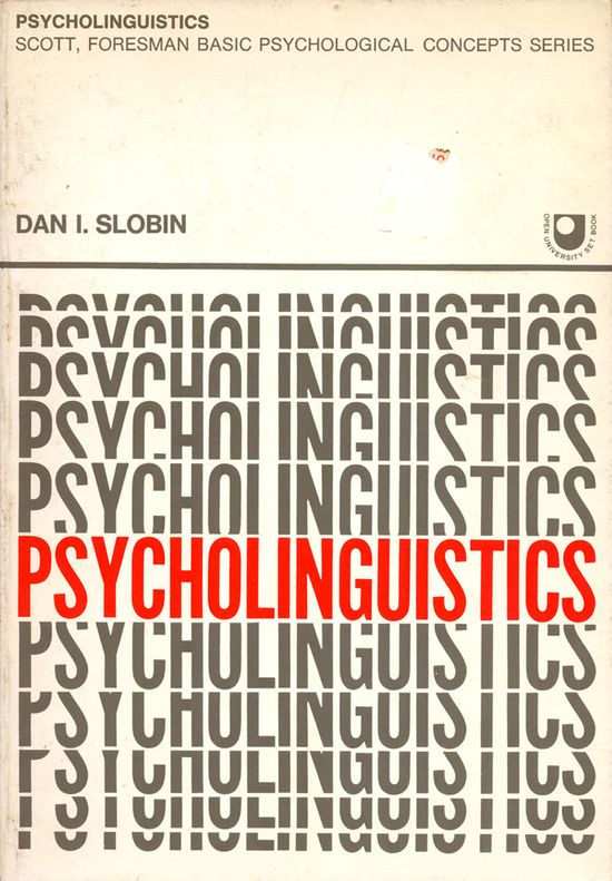 Psycholinguistics, book cover, 1971