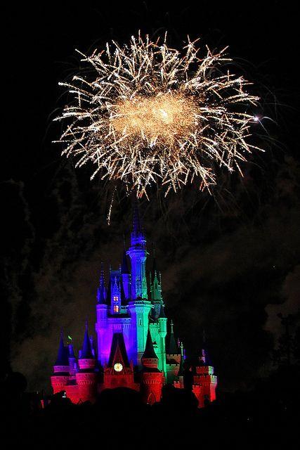 Disney Fireworks Over Cinderella's Castle