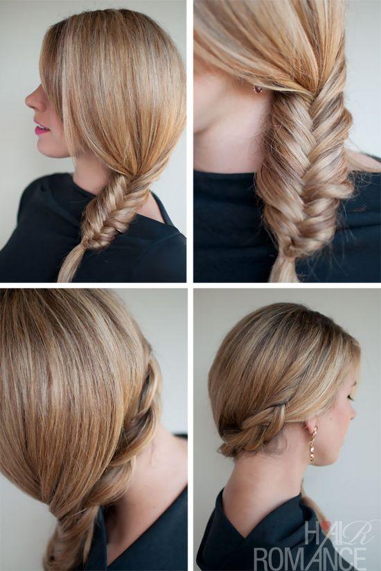 love a side fishtail braid