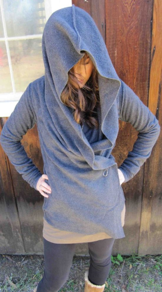 fleece yoga wrap....can be worn 5 different ways In dark gray please!
