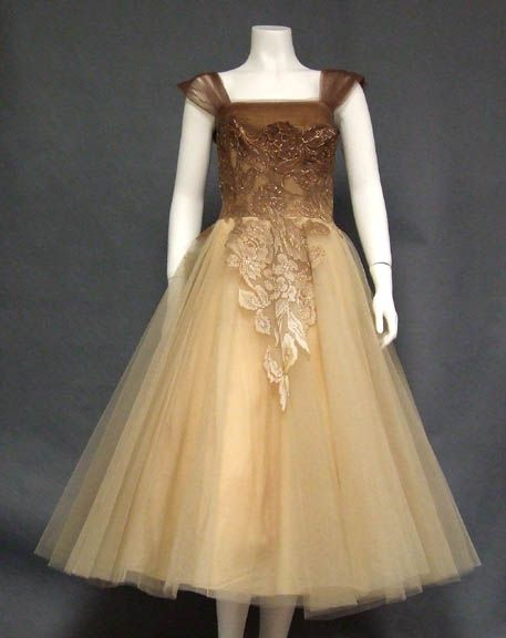 1950's Tulle Dress. Love the ombre coloring........