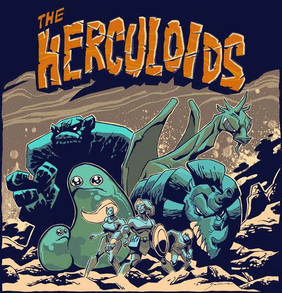 One of the most awesome cartoons of my 1st. Childhood: The Herculoids! Zok, Igoo, Tundro, Gloop & Gleep fight alongside Zandor, his wife: Tara & his son: Dorno. Designed by the amazing Alex Toth & Produced by Hanna-Barbera in the 1960's. Available on DVD.