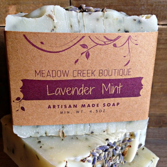 Lavender Mint Soap  Handmade in Alaska All Natural by challenevi, $6.00