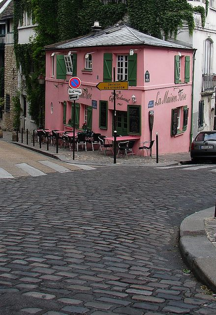 Where Picasso was believed to have sketched pictures of waitresses in an effort to charm them, in exchange for free food...Montmarte, Paris.