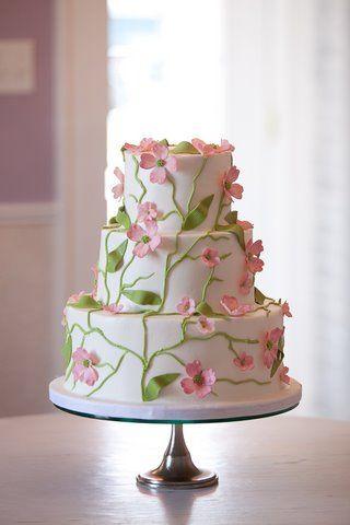 Pretty floral cake.