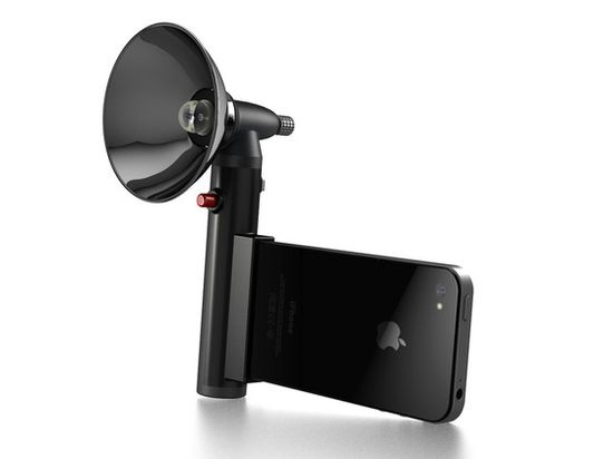 """Please fund so that I can has!!     Paparazzo Light - for the iPhone 4, 4S, and """"5"""" by Paparazzo Light, via Kickstarter."""