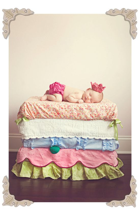 princess and the pea photoshoot...A must for baby girl