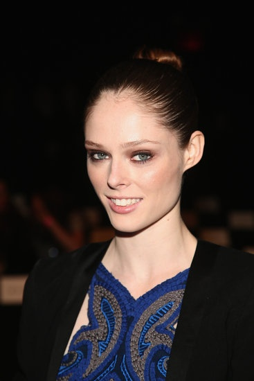 Coco Rocha sat front row at Herve Leger. See the other hot celebrity looks.