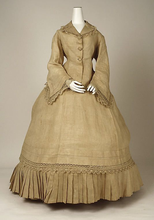 Morning Dress 1867, American, Made of linen