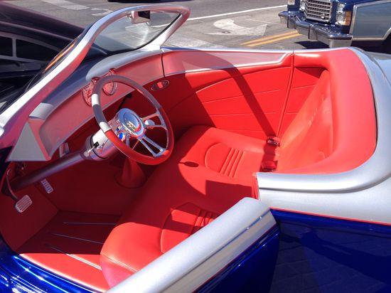 Cool custom car interiors.