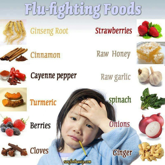 Feeling ill? Try these foods and you'll feel better sooner! #flu-fighting #foods #getwellsoon