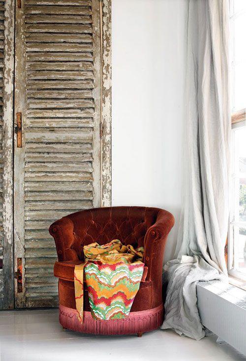 velvet furniture.