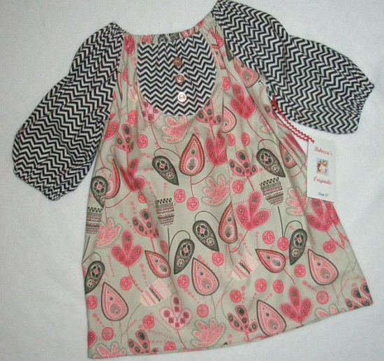 Girls Toddler Peasant Dress Chevron Stripe by RebeccasOriginals, $26.00