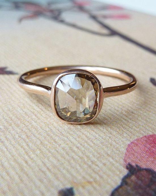 Fancy Rose Cut Diamond Ring