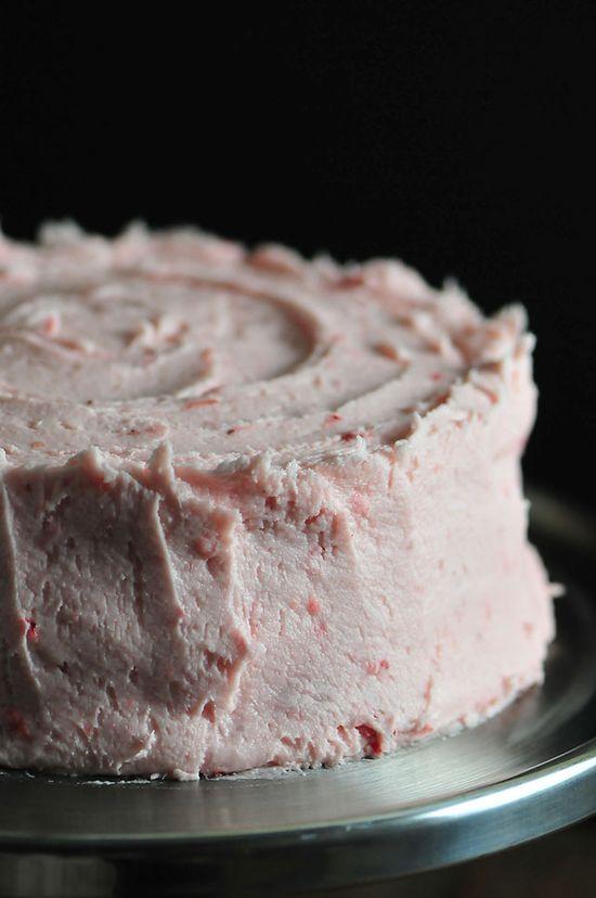 Strawberry Cake Recipe from addapinch.com
