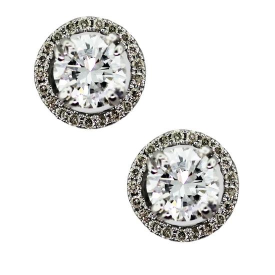 1ct Halo Diamond Stud Earrings