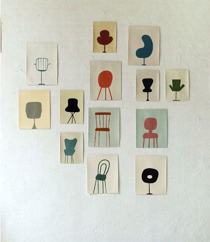 drawings  in the studio  2005