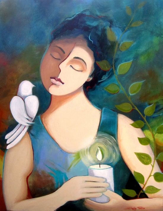 "Saatchi Online Artist: Shelly Penko; Acrylic, Painting ""Peace"""