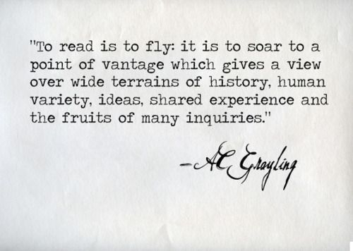 to read is to fly