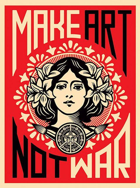 Shepard Fairey.   graphic design posters