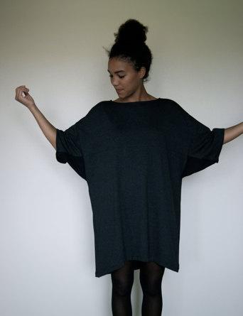 Grey Oversize Wedge Dress