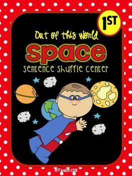 Space - Fluency Center:  Sentence Shuffle:  - 1st grade grade - priced