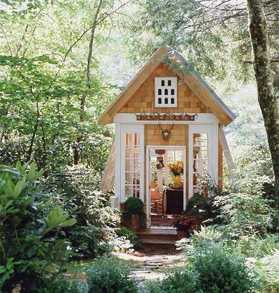 What a cute garden shed!