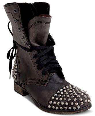 Steve Madden Women's Shoes, Tarny Studded Booties – Juniors Shoes – Shoes –