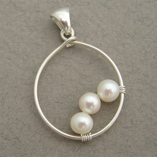 Three Pearls Pendant For Necklace