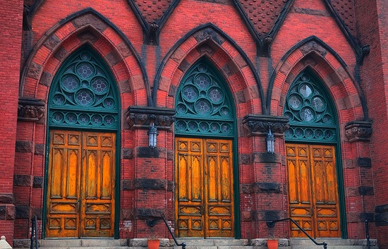 Church Doors in Portland, Maine