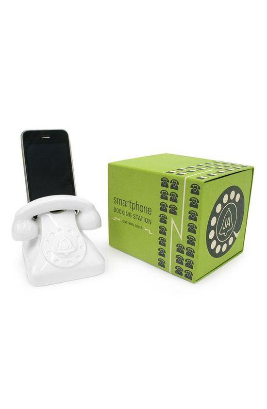 Old school ring: Jonathan Adler universal smart phone dock.