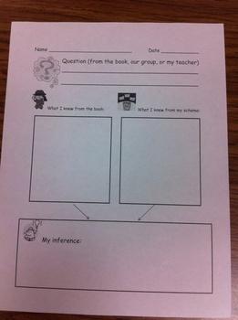 Reader Response Forms for Comprehension Strategies - Kindergarten, First Grade, Second Grade