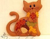 Stuffed Animal Pattern - Felt Plushie Sewing Pattern & Tutorial - Shamrock the St. Patrick's Day Cat - Embroidery Pattern PDF. $5.00, via Etsy.