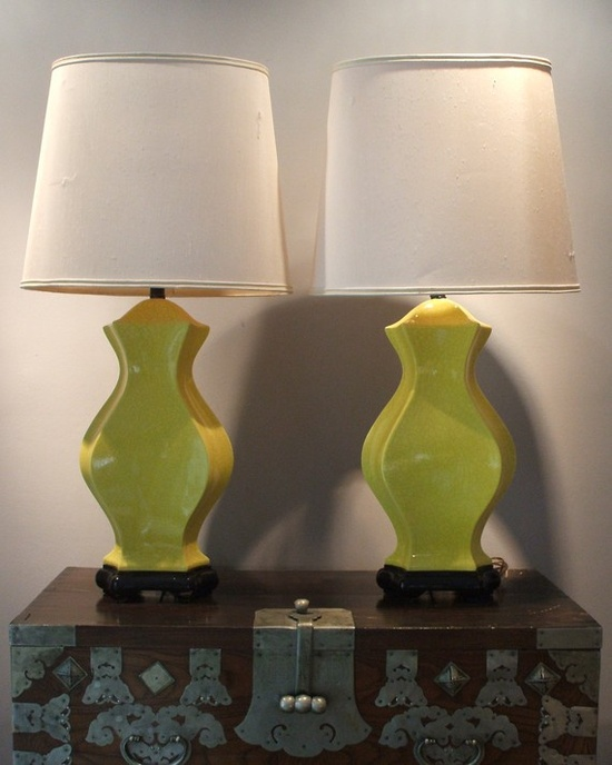 yellow lamps