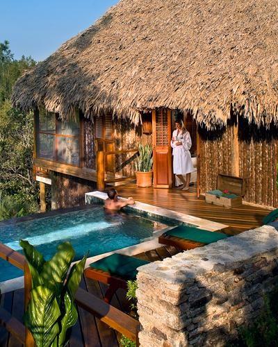 Unplugged Honeymoon Resort (no wi-fi, phones or TV!): Blancaneaux Lodge, Belize