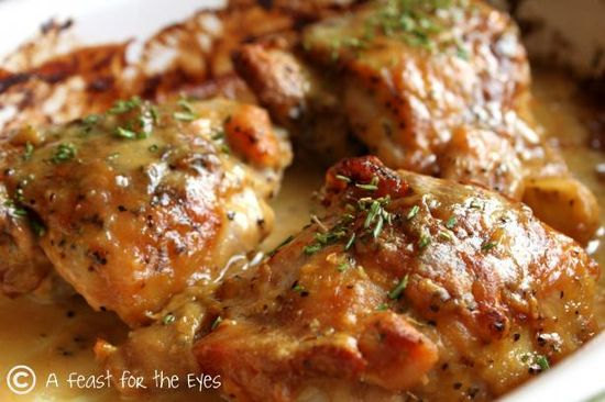 "One pinner wrote: Man-Pleasing Chicken - looks more like Woman-Pleasing Chicken to me! I have never gotten so many compliments before, let alone for a piece of chicken. David suggested calling this chicken, ""So Good it Can't Be Described, Explosion on Your Taste Buds Chicken."" Exactly. I have never encountered a dish that is so basic and simple to put together yet creates such a big pay off."