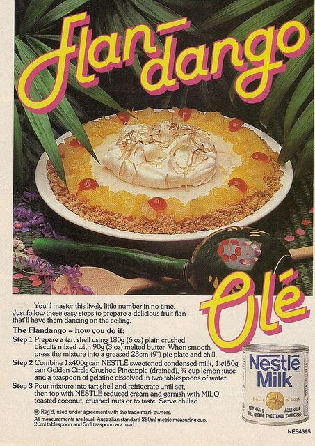 Do the Flan-dango! #vintage #1970s #recipe #pie #food #ad #retro