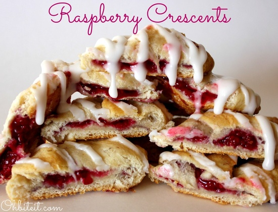 ~Glazed Raspberry Crescents!