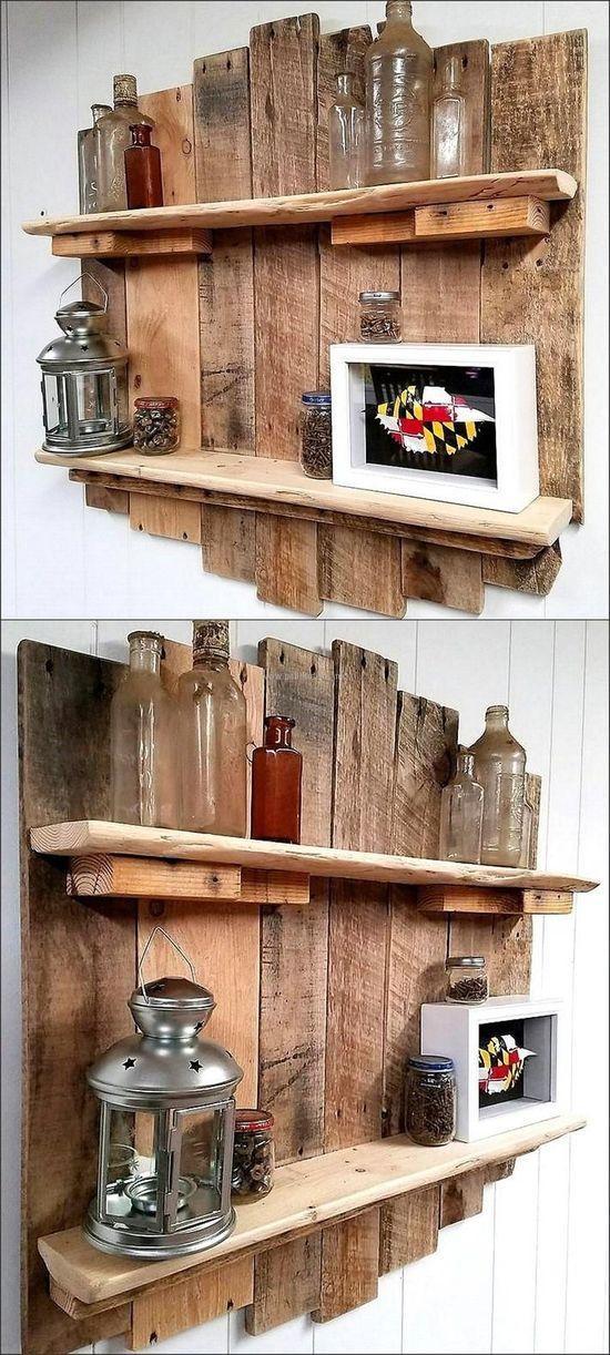 Etagères en bois de