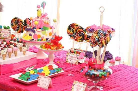 Candy Land party from Couture Celebrations #candyland #party #parties #birthday #rainbow