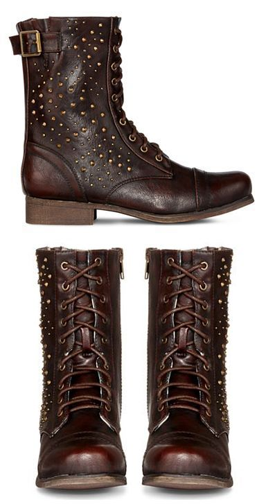 Blake Studded Lace-Up Boots #fashion #shoes #boots #Fall #winter #studded