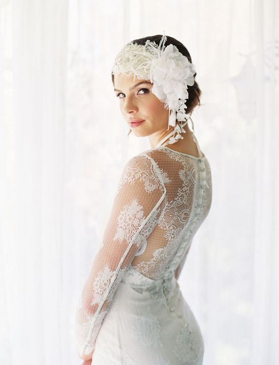 gorgeous lace details in this Claire Pettibone dress