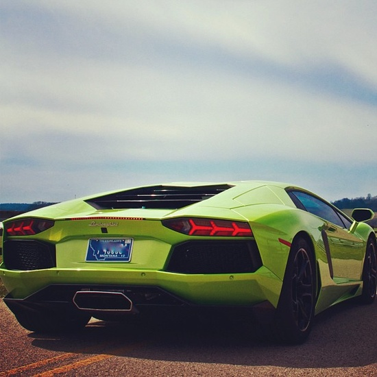 Rear View of the amazing Aventador!