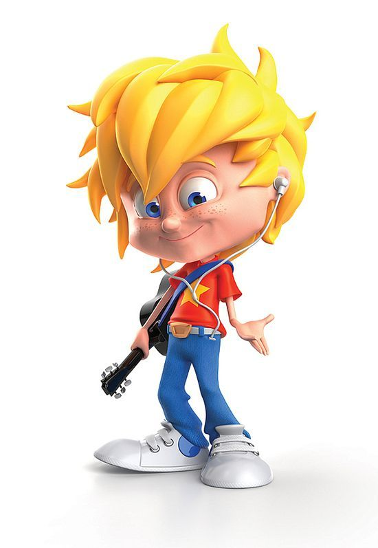 Jippi Cool Kid Characters by Warner #3d character #3d char