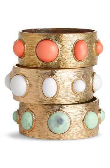 Cara Accessories Colored Stone Bangle #Nordstrom
