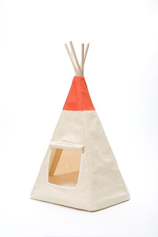 The Algonquin Teepee...A teepee for your cat.  This by TailsEnd, $135.00